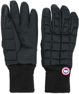 Canada Goose logo padded gloves