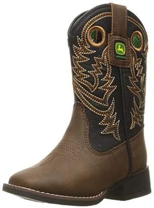 John Deere Kids' Chi Dist/Blk BRD sq PO Pull-on Boot