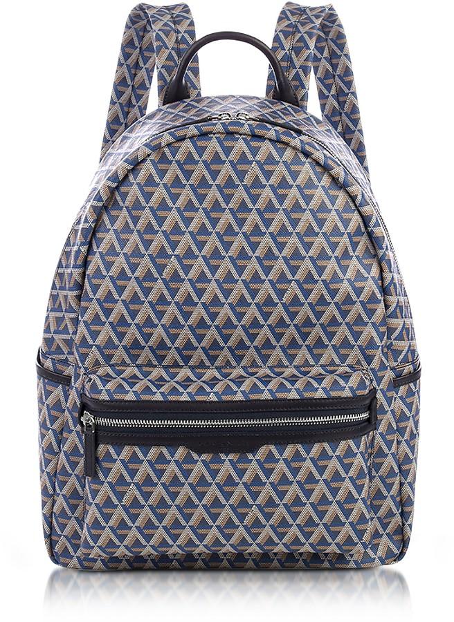 Lancaster Paris Ikon Blue Coated Canvas Men's Backpack