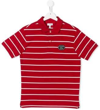 Lacoste Kids TEEN striped polo shirt