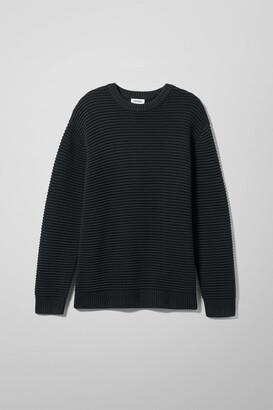 Smyth Waffle Sweater - Black