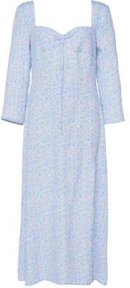 Rixo Giselle Floral-Print Midi Dress Size: S
