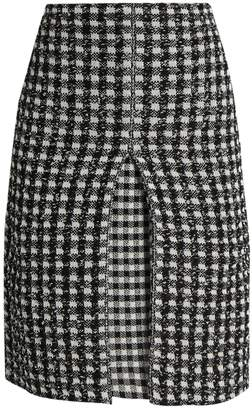 Sonia Rykiel Checked-tweed A-line skirt