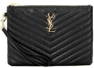 Saint Laurent Monogram leather pouch