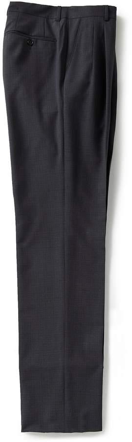 Santorelli Luxury Modern-Fit Flat Front Fancy Wool Dress Pants