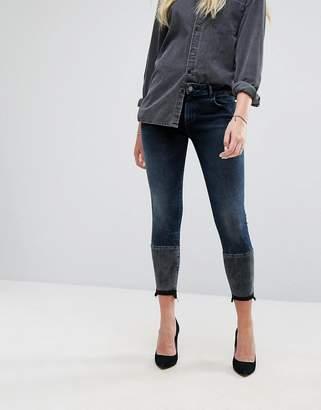 DL1961 Florence Crop Skinny Jean with Contrast Wash Hem Detail