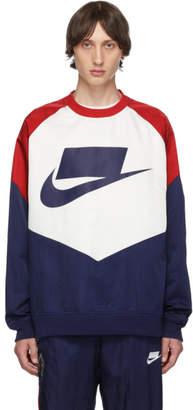 Nike Off-White and Navy Windrunner Meets NSW Sweatshirt