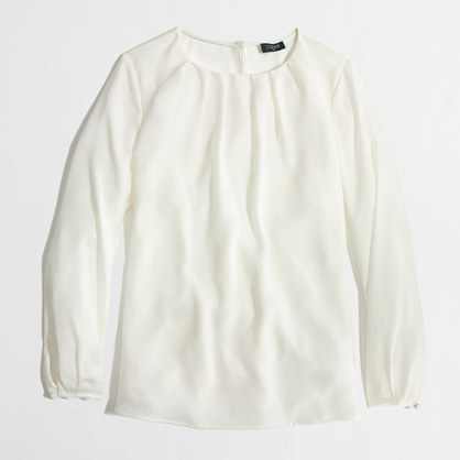 J.Crew Factory Factory pleated top