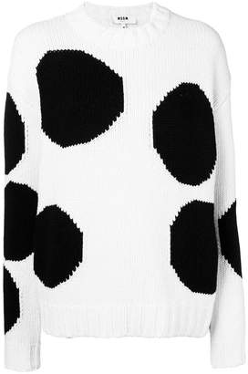 MSGM polka dot knit sweater