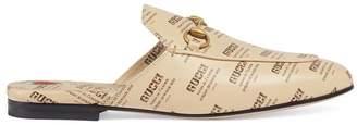 Gucci Princetown stamp print slipper