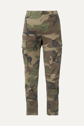 RE/DONE Camouflage-print Canvas Tapered Pants