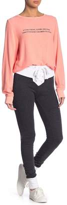 Wildfox Couture Contrast Fifi Skinny Sweatpants