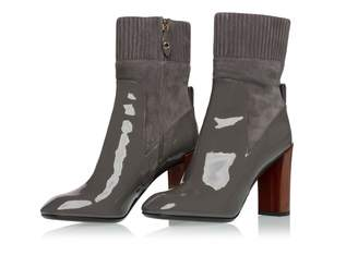 Louis Vuitton Grey Patent leather Ankle boots