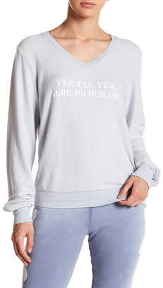 Wildfox Couture Yep Baggy Beach V-Neck Jumper