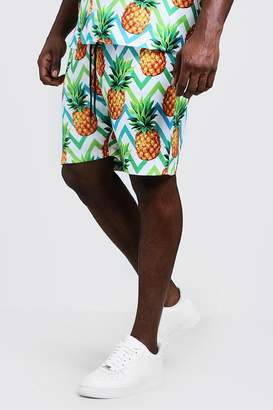Big & Tall Pineapple Print Short