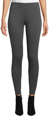 Eileen Fisher Striped Stretch Terry Ankle Leggings, Plus Size