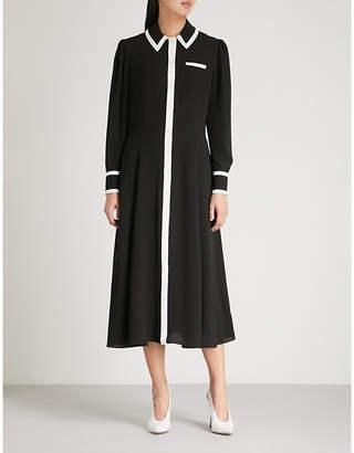 Emilia Wickstead Lucius monochrome crepe midi dress