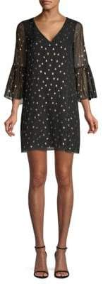 Lilly Pulitzer Caroline Metallic Polka Dot Tunic Dress