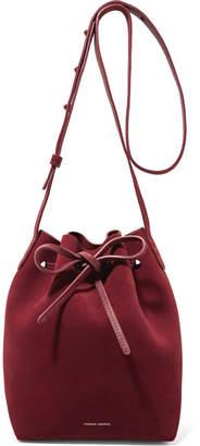 Mansur Gavriel - Mini Suede Bucket Bag - Burgundy $495 thestylecure.com