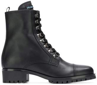 Prada Milano lace-up ankle boots