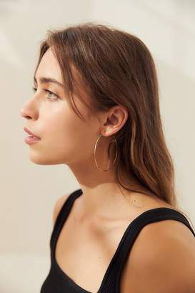 Urban Outfitters 18k Gold + Sterling Silver Plated Basic Hoop Earring