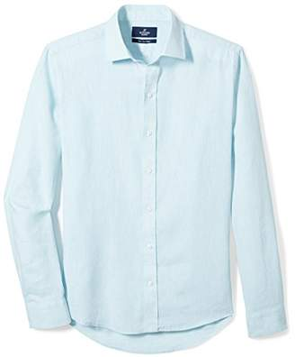 Buttoned Down Men's Slim Fit Spread-Collar Linen Sport Shirt