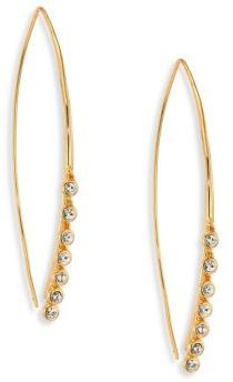 Jules Smith Lure Crystal Fringe Threader Earrings $60 thestylecure.com