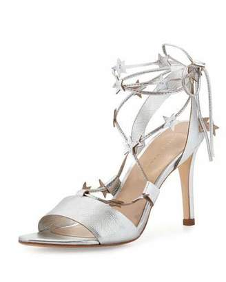 Loeffler Randall Arielle Strappy Stars Sandals, Silver
