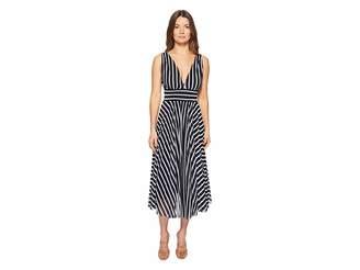 Fuzzi Stripe V-Neck Dress Women's Dress