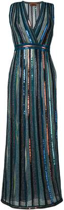 Missoni glitter v neck dress