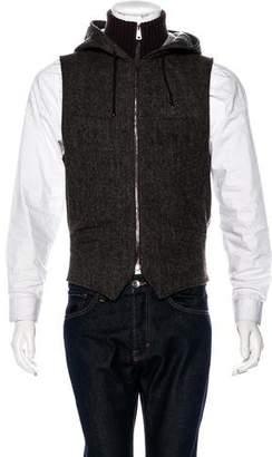 Dolce & Gabbana Hooded Wool-Blend Vest