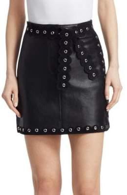 Maje Jarisco Studded Leather Skirt