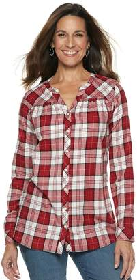 1c759d82a2 Croft   Barrow Women s Plaid Flannel Shirt