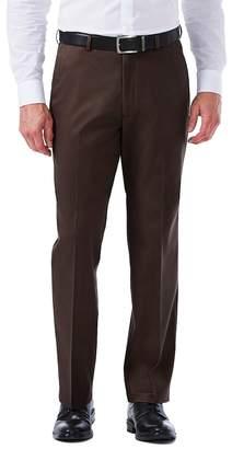 Haggar Men's Premium No-Iron Khaki Stretch Classic-Fit Flat-Front Pants