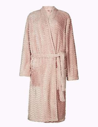 Marks and Spencer Textured Supersoft Kimono Dressing Gown