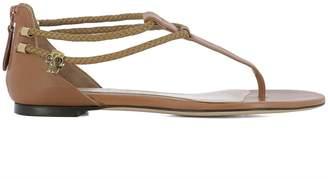 Alexander McQueen Brown Leather Sandals