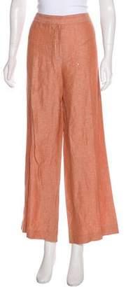 Lafayette 148 High-Rise Linen & Virgin Wool-Blend Pants