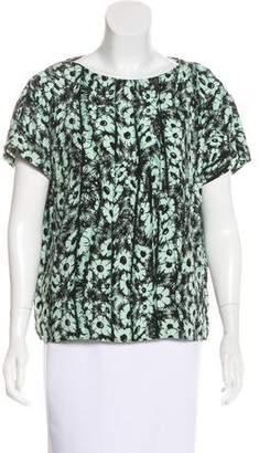 Kenzo Floral Print Short Sleeve Top
