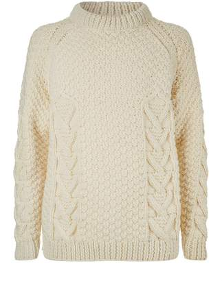 Loewe Logo Cable Knit Sweater
