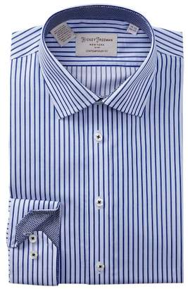 Hickey Freeman Striped Contemporary Fit Dress Shirt