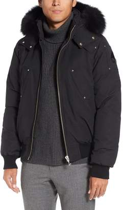 Moose Knuckles 'Ballistic' Bomber Jacket with Genuine Fox Fur Trim