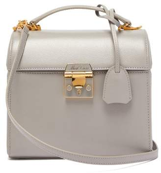 Mark Cross Sara Saffiano Leather Bag - Womens - Light Grey