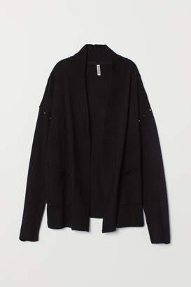 H&M Knit Cardigan with Studs - Black