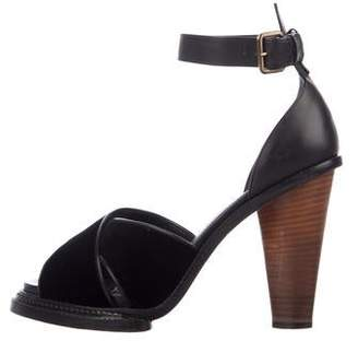 Derek Lam Leather Crossovers Platform Sandals