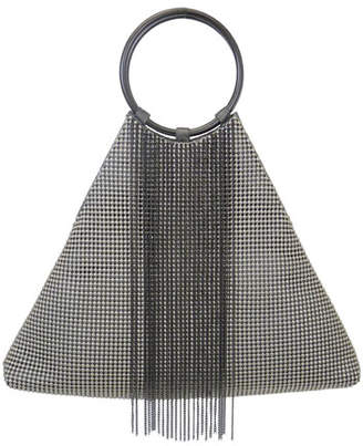 Whiting & Davis Triangle Fringe Clutch Bag