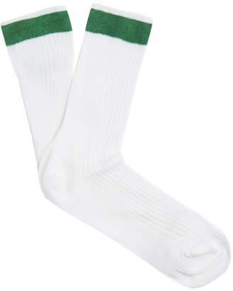 Valentino Ribbed silk-blend socks