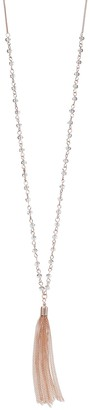 Lauren Conrad Long Beaded Link Tassel Necklace