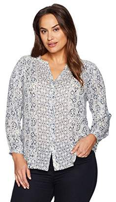 Lucky Brand Women's Plus Size Peasant Top