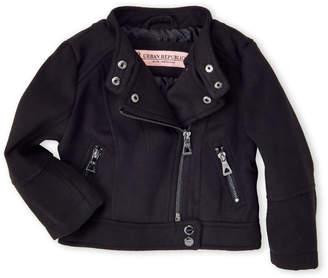 Urban Republic Toddler Girls) Wool Motorcycle Jacket