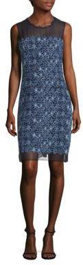 Elie Tahari Ophelia Embroidered Illusion Dress $498 thestylecure.com